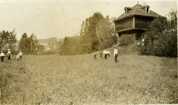 Residents enjoy a summer outing near the Fort Kent Blockhouse in this undated photograph.