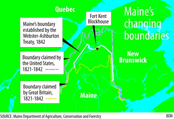 Maine's changing boundary