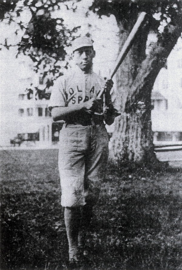 Louis Sockalexis poses in his Poland Spring uniform during the summer of 1894.