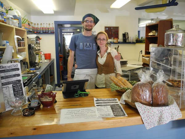 Patrick and Celine Kelley stand behind the counter of their new business, Coastal Cafe & Bakery, which has been drawing crowds since it opened in May.