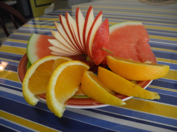 A fruit salad is one of the breakfast offerings at the new Coastal Cafe & Bakery on Route 1 in Searsport.