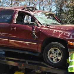 Man dies in Bristol after pickup crashes into trees