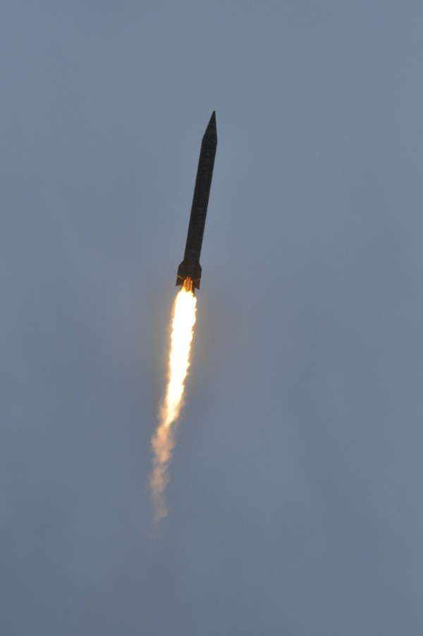 This handout image from a Pakistan military shows a medium range ballistic missile Hatf V (Ghauri) being fired during a test at an undisclosed location in Pakistan in this November 2012 file photo.