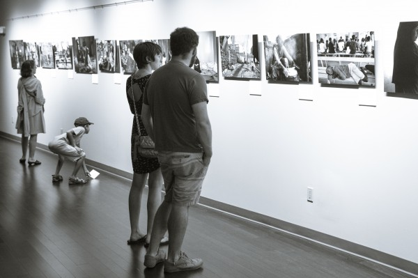 First Friday Art Walk in Portland draws thousands to places like the Salt Institute for Documentary Studies on Congress Street.
