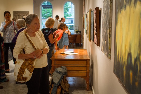 First Friday Artwalk in Portland draws thousands to places like Aucocisco Galleries every month.