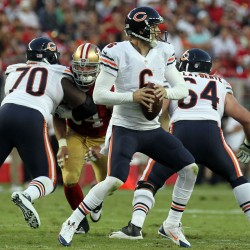 Bears' Cutler to miss 49ers game with concussion