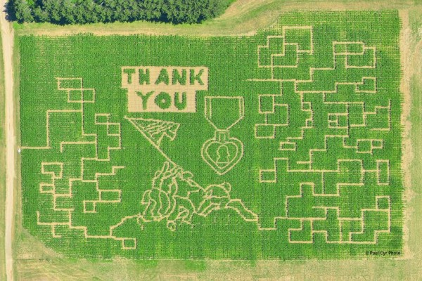 "For the past 10 years, Goughan's Berry Farm in Caribou has created a six-acre corn maze on their property. This year, Mark Goughan said Tuesday, he and his wife Gloria Goughan, who own and operate the farm, were looking for a way to honor veterans for their service. That is how they settled on this year's theme: &quot""Amazingly Grateful"".&quot"