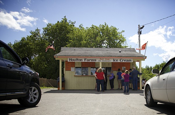 Houlton Farms Dairy Bar is a seasonal ice cream destination, one of six drive-in style burger and shake joints recommended by Bangor Daily News readers and being featured in the Living section this year.