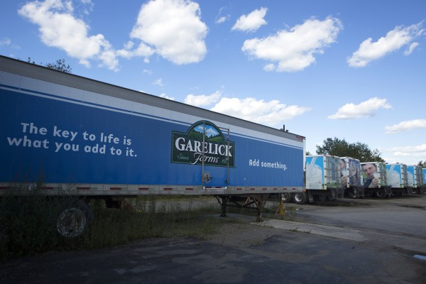 Garelick Farms trucks are seen on Wednesday at 1703 Hammond St. in Hermon.