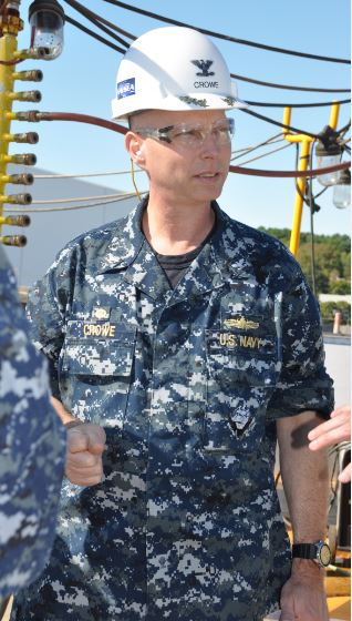 Capt. Robert A. Crowe, commander of the Supervisor of Shipbuilding at Bath Iron Works, will retire on Friday and turn over command to Capt. Michael E. Taylor.