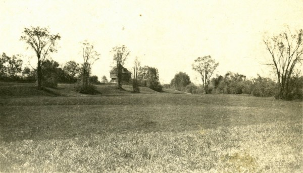 This undated photo from the late 19th century shows the area around the Fort Kent Blockhouse before it became a residential neighborhood.