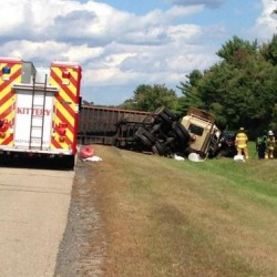 Police respond to turnpike accident in York involving passenger car, tractor trailer