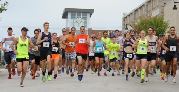 Runners start the 52nd annual Labor Day 5-Mile Road Race beside Hollywood Casino at 9:00 am Monday morning.