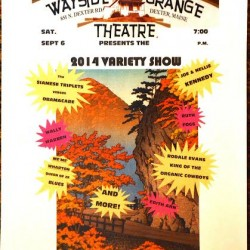 Dexter Wayside Theatre Variety Show on Sat. Sept. 6 at 7 pm.  Tix $7