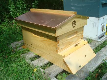 A garden hive with a copper roof can look great.