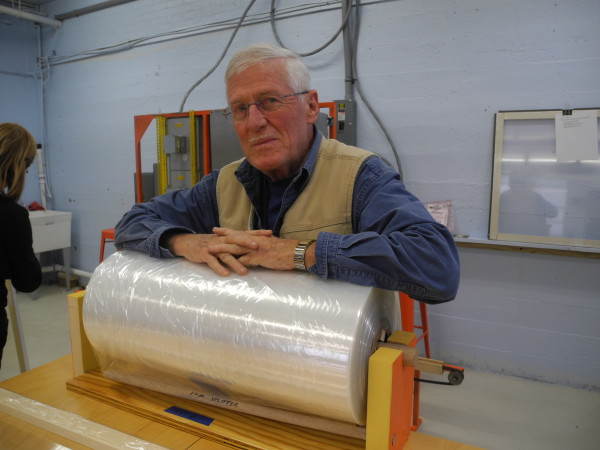Richard Cadwgan, a retired engineer from Rockport, is the president of Window Dressers, a growing nonprofit agency that aims to help Mainers stay warmer in the winter.