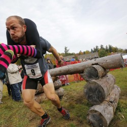 Team from Bethel and Farmington win wife-carrying contest