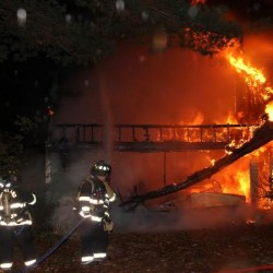 Fire destroys Rockport firefighter's home