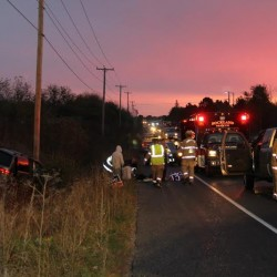 Rockland authorities respond to 2-car crash