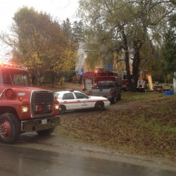 Early morning fire destroys Hermon house, barn