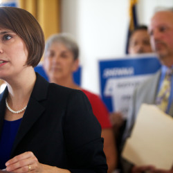 Shenna Bellows makes first US Senate campaign appearance