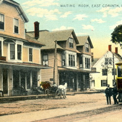 Trolley traveling through East Corinth in the early 1900s.