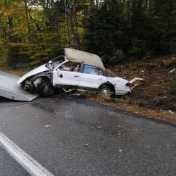Truck lands on Bucksport man's chest