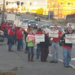 FairPoint employees conduct informational picket