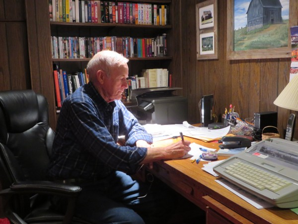 Bob Tweedie of Westfield sits at the desk where he spent about seven years writing the book &quotEvents.&quot