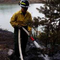 Firefighters, rangers squash underground fire near Rangeley
