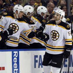 Late goals by Krejci, Horton lift Bruins past Sabres