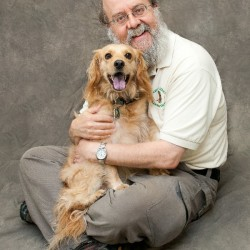 Don Hanson and his dog Muppy