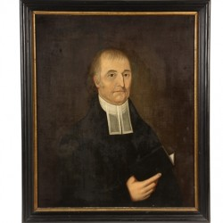 Portrait of Buxton, ME pastor, Rev. Dr. Paul Coffin, by John Brewster, Jr. (CT/ME, 1766-1854), a featured item in Thomaston Place Auction Galleries Fall Fine Art & Antiques Auction on November 7, 8 & 9