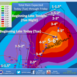 Heavy rain throughout Maine brings flood warnings