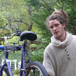 Marius Nicolas '15 brought his experience in making do with what one has to his work-study job as a bicycle mechanic.
