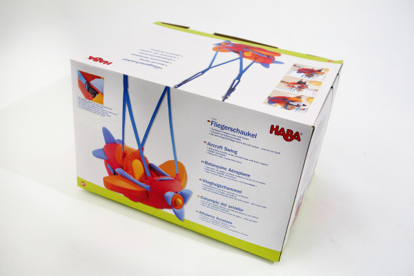 3-2-1 Takeoff: Take your tyke on a plane ride with this aircraft swing from HABA. 