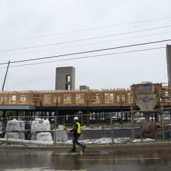 New Hampton Inn under construction in Bangor