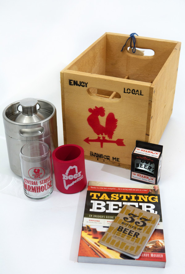 """Bottom's Up!: Everything you need for the beer enthusiast (or master brewer) in your life.  Buy It: 64 oz. stainless steel growler, $44.95; beerME coozie, $4.95; The STARR """"X"""" bottle opener, $8.50; homebrew box, $25; Central Street Farmhouse glass, $??; """"33 Bottles of Beer"""" book, $4.50; """"The Portable Beer Expert"""" book, $16.95. Central Street Farmhouse 30 Central St. Bangor 992-4454 info@centralstreetfarmhouse.com"""