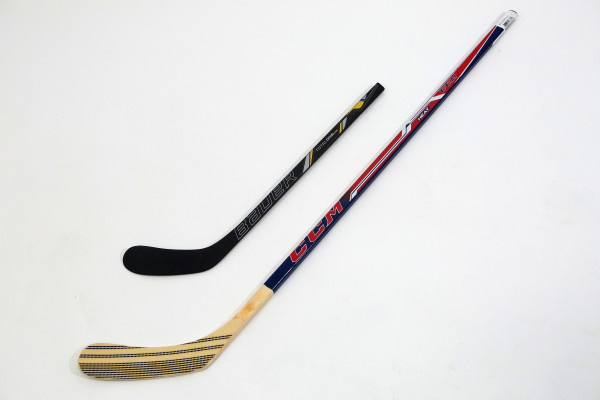 Slap shot!: Score a goal with hockey sticks and equipment that will be sure to improve his game this season.