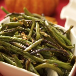 Garlicky Roasted Green Beans