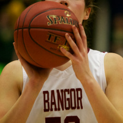 Catherine McAuley overpowers Bangor to claim third straight girls Class A basketball title