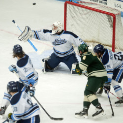 Vermont scores three second-period goals in 4-3 victory over Maine