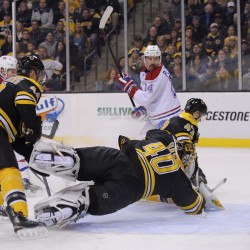 Corvo helps Bruins beat Canadiens 7-3