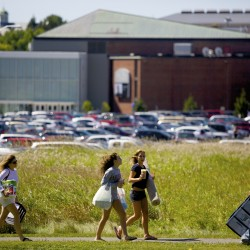 University of Maine students move into campus Friday to start the 2014 school year.