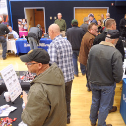 Over 40 employers and training providers were present at a job fair organized for the millworkers who will be laid off from the Bucksport Verso Paper mill in a couple of weeks. The event was held at the Orland Consolidated School Thursday afternoon.