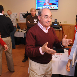 Bruce Poliquin speaks to supporters at his election night celebration at Dysart's in Bangor Tuesday evening.