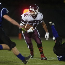 Santiago's five touchdowns lead MCI football team past Stearns