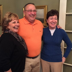 At Blaine House, LePage hears Bowdoin students' ideas to keep young people in Maine