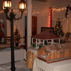 The 2012 Exhibit included models of Cherryfield's covered bridge, foot bridge and old bandstand.