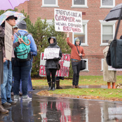 Protesting USM students, faculty interrupt trustees meeting in Portland